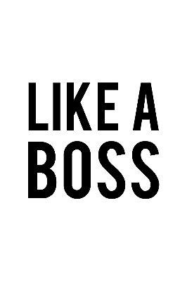 Quadro com Frase - Like a boss