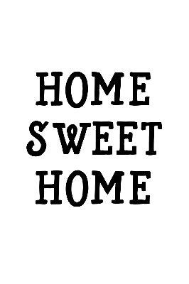 Quadro com Frase - Home Sweet Home