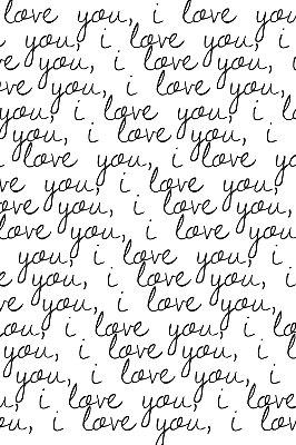 Quadro com Frase - i love you
