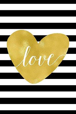 Quadro com Frase - Striped Love