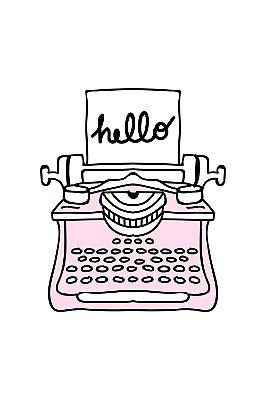 Quadro com Frase - Typewriter