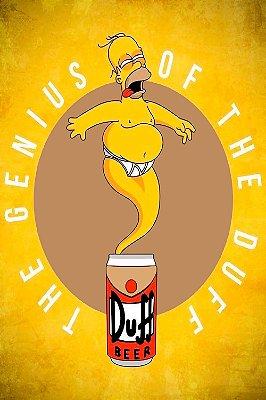 Quadro SImpsons - O Gênio da Duff