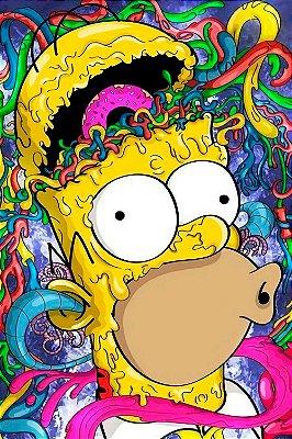 Quadro Simpsons - Homer Psicodélico