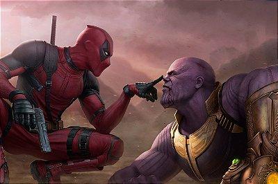 Quadro Deadpool - Thanos