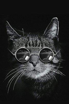 Quadro Animais - Gato de Óculos