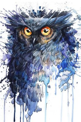 Quadro Animais - Coruja em Pintura