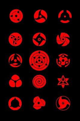 Quadro Naruto - Todos os Sharingans 3