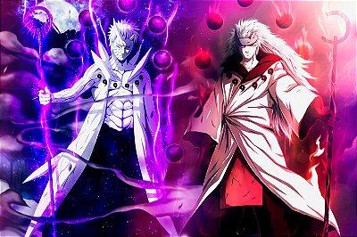 Quadro Naruto - Obito e Madara