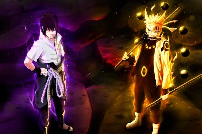 Quadro Naruto - Sasuke e Naruto