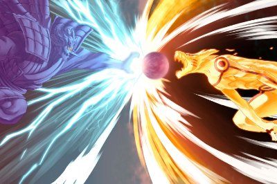 Quadro Naruto - Kurama vs Susanoo 2