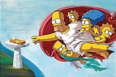 Quadro Simpsons - Michelangelo