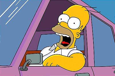 Quadro Simpsons - Homer Gritando