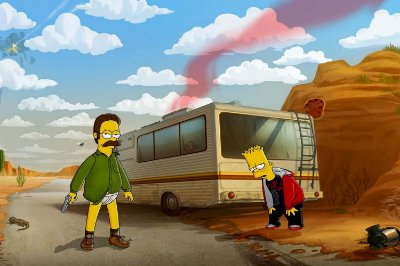 Quadro Simpsons - Breaking Bad