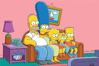 Quadro Simpsons - Sofá