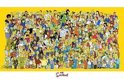 Quadro Simpsons - Todos Personagens