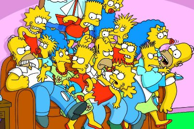 Quadro Simpsons - Sofá 2