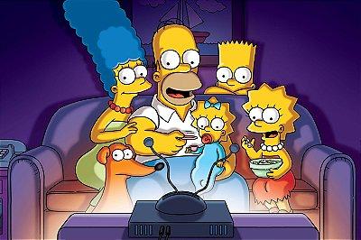 Quadro Simpsons - Sofá 3