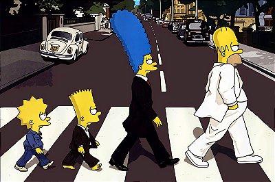 Quadro Simpsons - Beatles