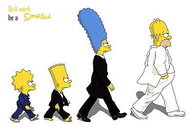 Quadro Simpsons - Beatles 2