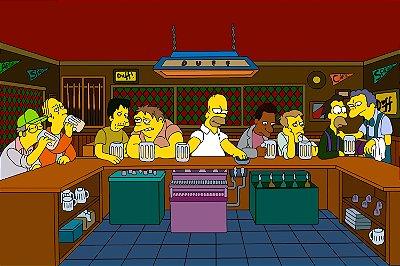 Quadro Simpsons - Bar do Moe