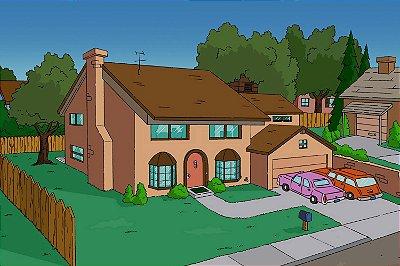 Quadro Simpsons - Casa