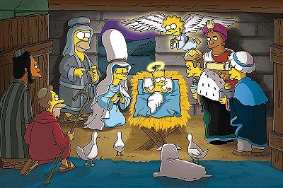 Quadro Simpsons - Presépio