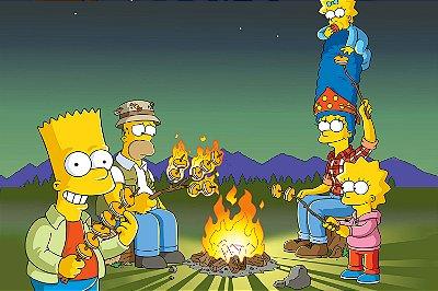 Quadro Simpsons - Acampamento