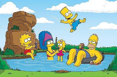 Quadro Simpsons - Lago