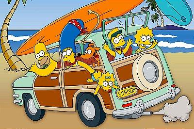 Quadro Simpsons - Praia