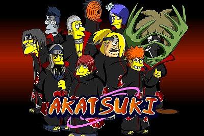 Quadro Simpsons - Naruto Akatsuki