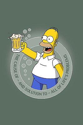 Quadro Simpsons - Homer Bebendo