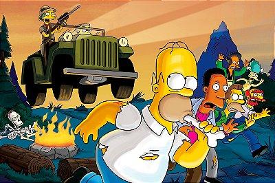 Quadro Simpsons - Caçada do Mr. Burns