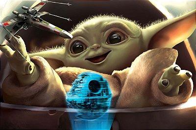 Quadro Star Wars - Baby Yoda