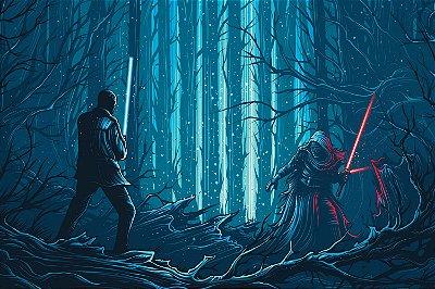 Quadro Star Wars - kylo Ren vs Luke Skywalker