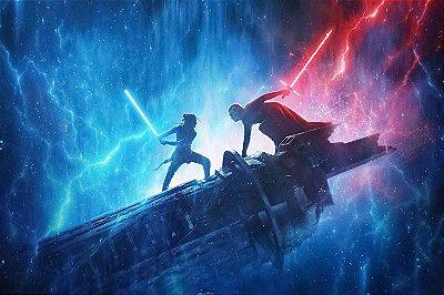 Quadro Star Wars - kylo Ren vs Rey Skywalker