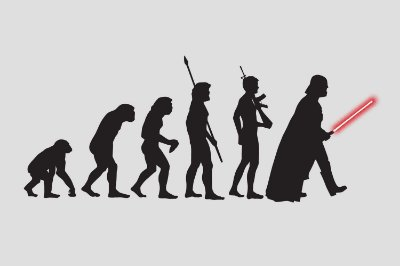 Quadro Star Wars - Evolução Jedi