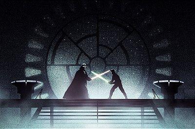 Quadro Star Wars - Darth Vader vs Luke Skywalker