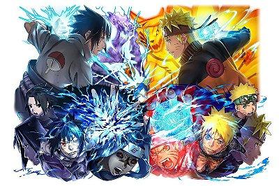 Quadro Naruto - Sasuke e Naruto Artístico