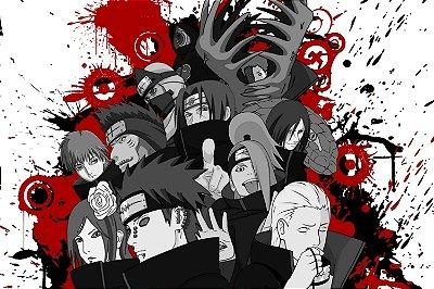 Quadro Naruto - Akatsuki Artístico 2