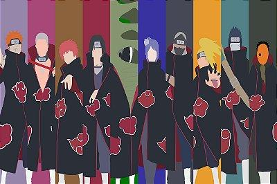 Quadro Naruto - Akatsuki Artístico 3