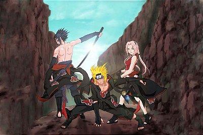 Quadro Naruto - Akatsuki Artístico 4