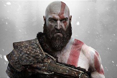 Quadro Gamer God of War - Kratos