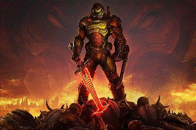 Quadro Gamer Doom - Eternal