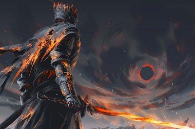 Quadro Gamer Dark Souls - Boss Artístico