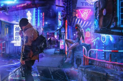 Quadro Gamer Cyberpunk 2077 - Night