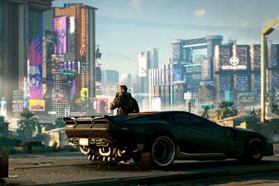 Quadro Gamer Cyberpunk 2077 - Cidade