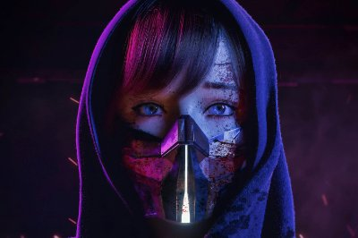 Quadro Gamer Cyberpunk 2077 - Girl
