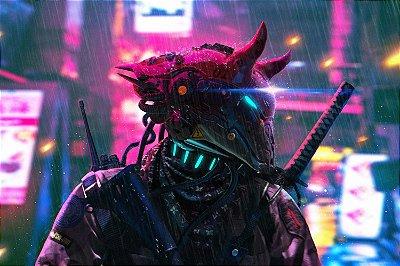 Quadro Gamer Cyberpunk 2077 - Wolf