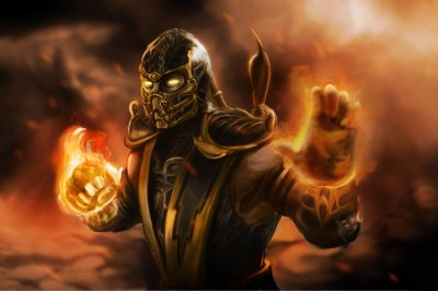 Quadro Gamer Mortal Kombat - Scorpion 4