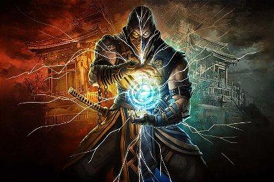 Quadro Gamer Mortal Kombat - Scorpion e Sub-Zero